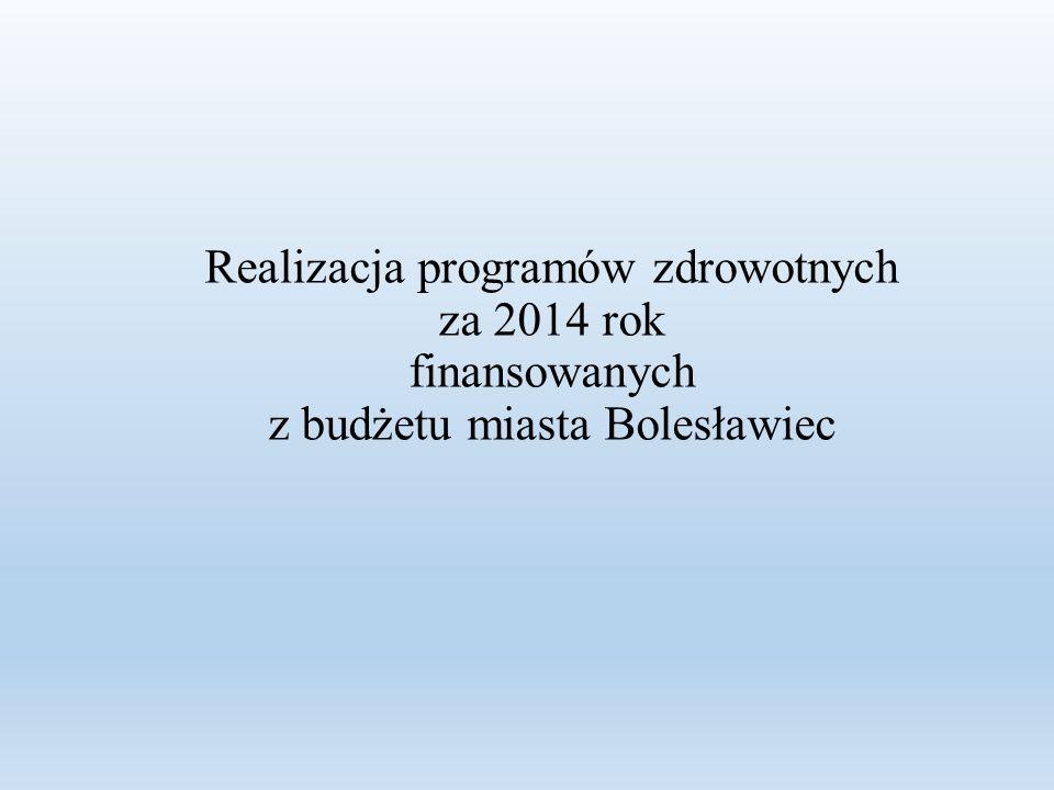 Realizacja programów zdrowotnych za 2014 rok finansowanych z budżetu miasta Bolesławiec