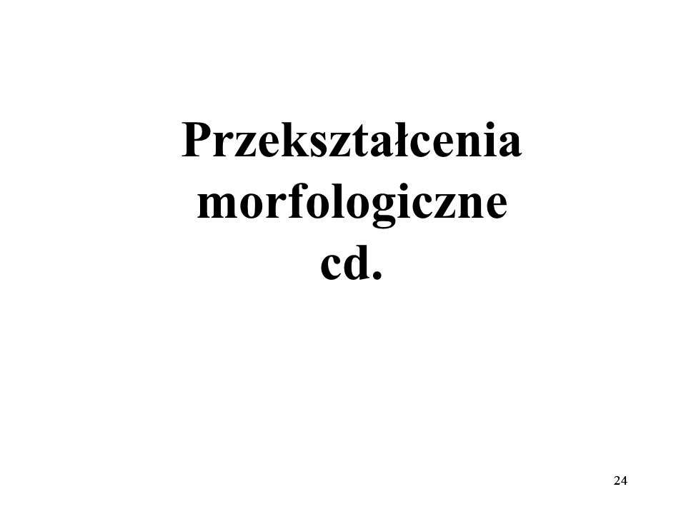 24 Przekształcenia morfologiczne cd.