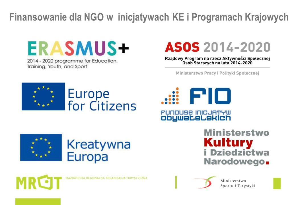 Finansowanie dla NGO w inicjatywach KE i Programach Krajowych