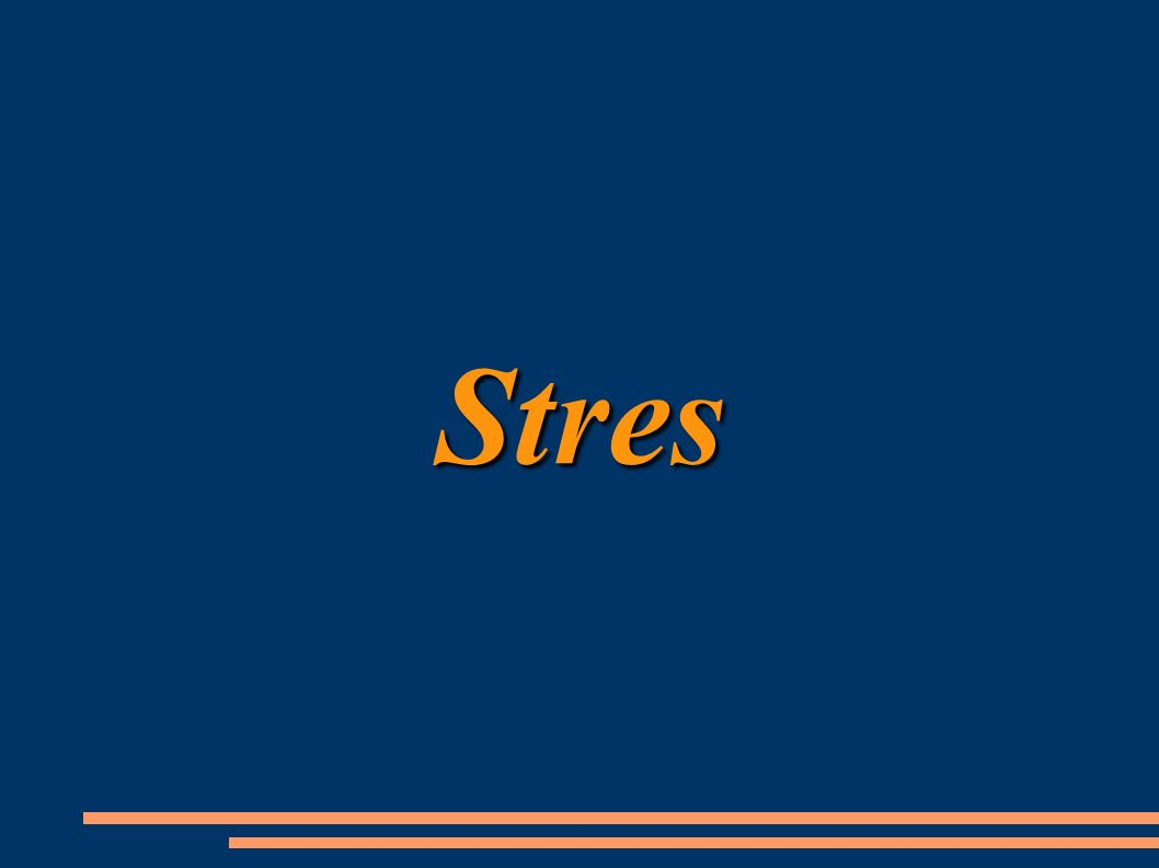 Stres Stres jest definiowany w psychologii jako dynamiczna relacja adaptacyjna pomiędzy możliwościami jednostki, a wymogami sytuacji, charakteryzująca się brakiem równowagi psychicznej i fizycznej.