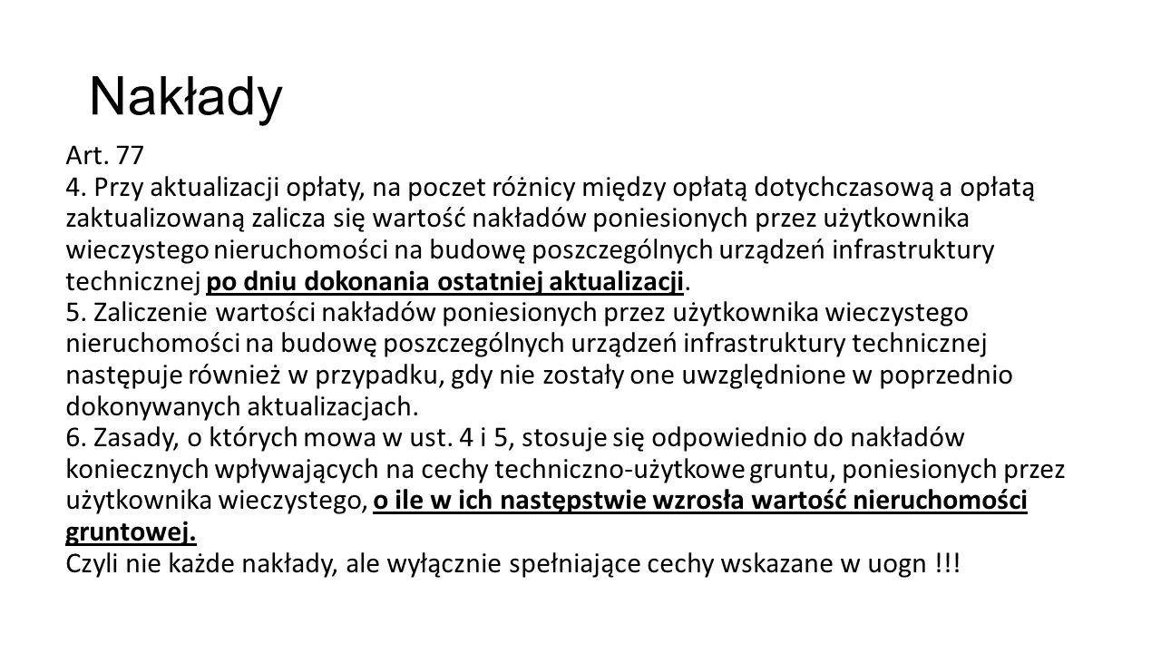 Nakłady Art. 77 4.