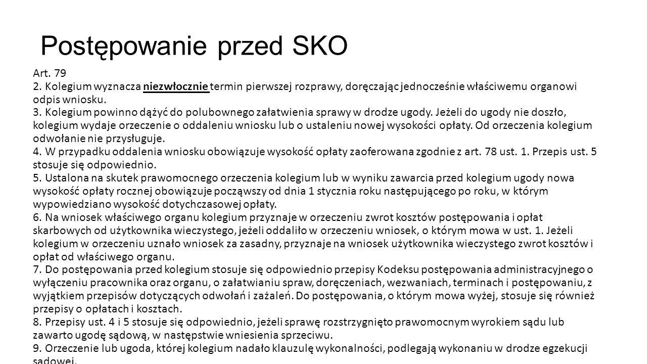 Postępowanie przed SKO Art. 79 2.