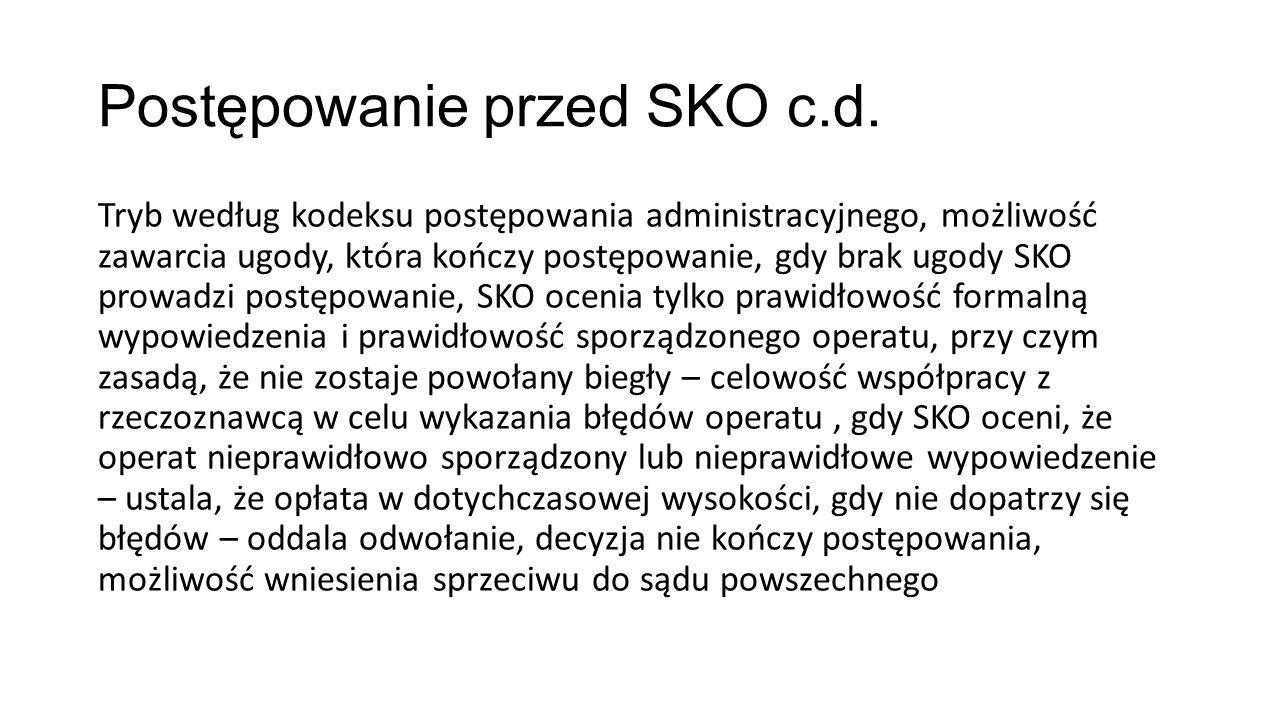 Postępowanie przed SKO c.d.