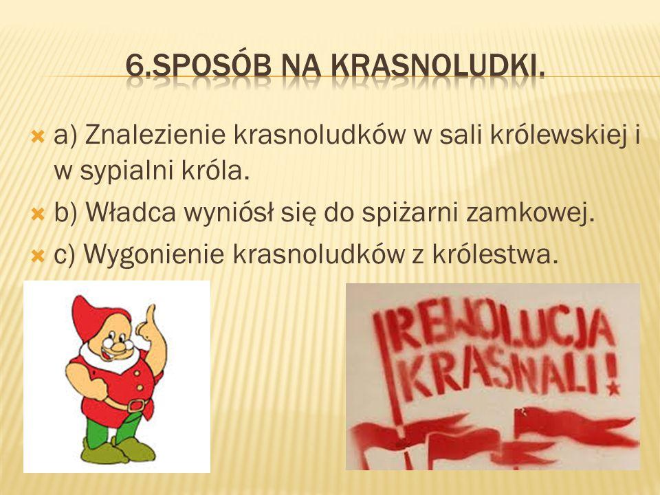 aa) Próba zamiany żaby w księżniczkę. bb) Poniesienie klęski w czarze.