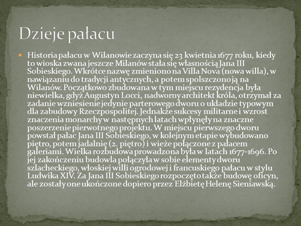 Po śmierci króla Pałac stał się własnością jego synów, natomiast w 1720 roku mocno podupadłą rezydencję nabyła jedna z najbogatszych kobiet w ówczesnej Polsce – Elżbieta Sieniawska.