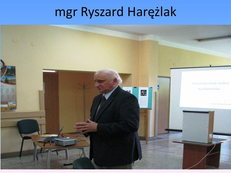 mgr Ryszard Harężlak
