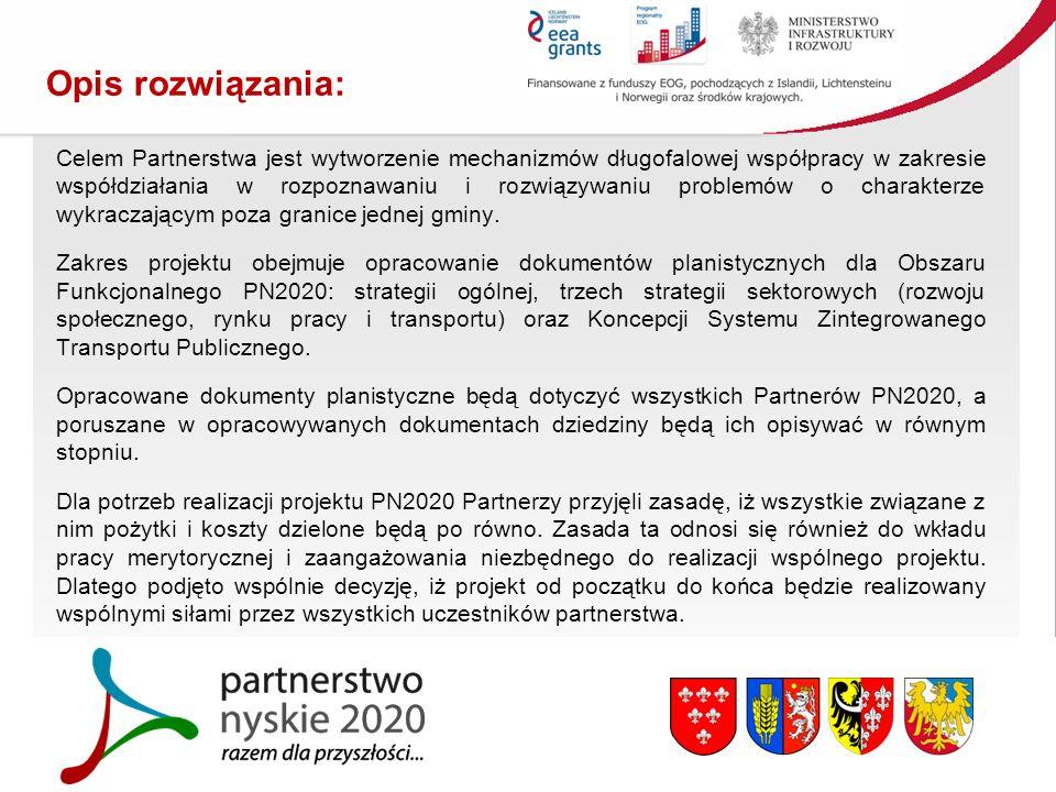 Opis rozwiązania: Celem Partnerstwa jest wytworzenie mechanizmów długofalowej współpracy w zakresie współdziałania w rozpoznawaniu i rozwiązywaniu problemów o charakterze wykraczającym poza granice jednej gminy.