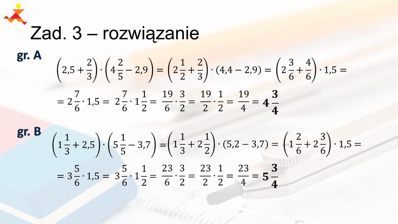 Zad. 3 – rozwiązanie