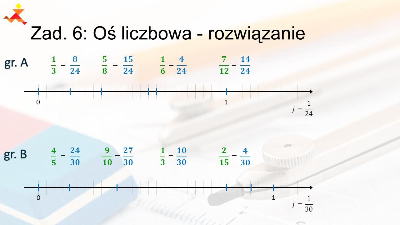 Zad. 6: Oś liczbowa - rozwiązanie 01 01