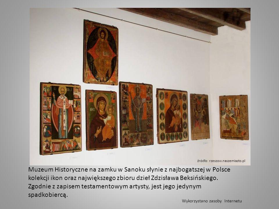 Muzeum Historyczne na zamku w Sanoku słynie z najbogatszej w Polsce kolekcji ikon oraz największego zbioru dzieł Zdzisława Beksińskiego.