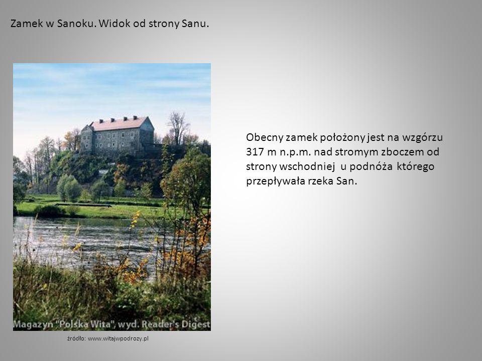 Panorama Sanoka.Na pierwszym planie Zamek Królewski.