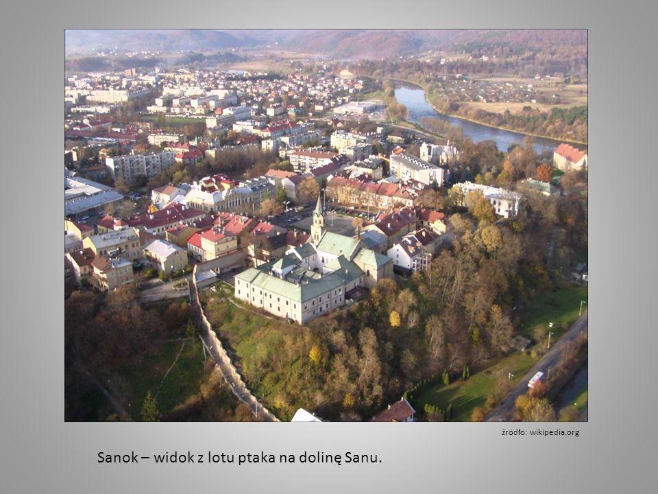 Sanok – widok z lotu ptaka na dolinę Sanu. źródło: wikipedia.org