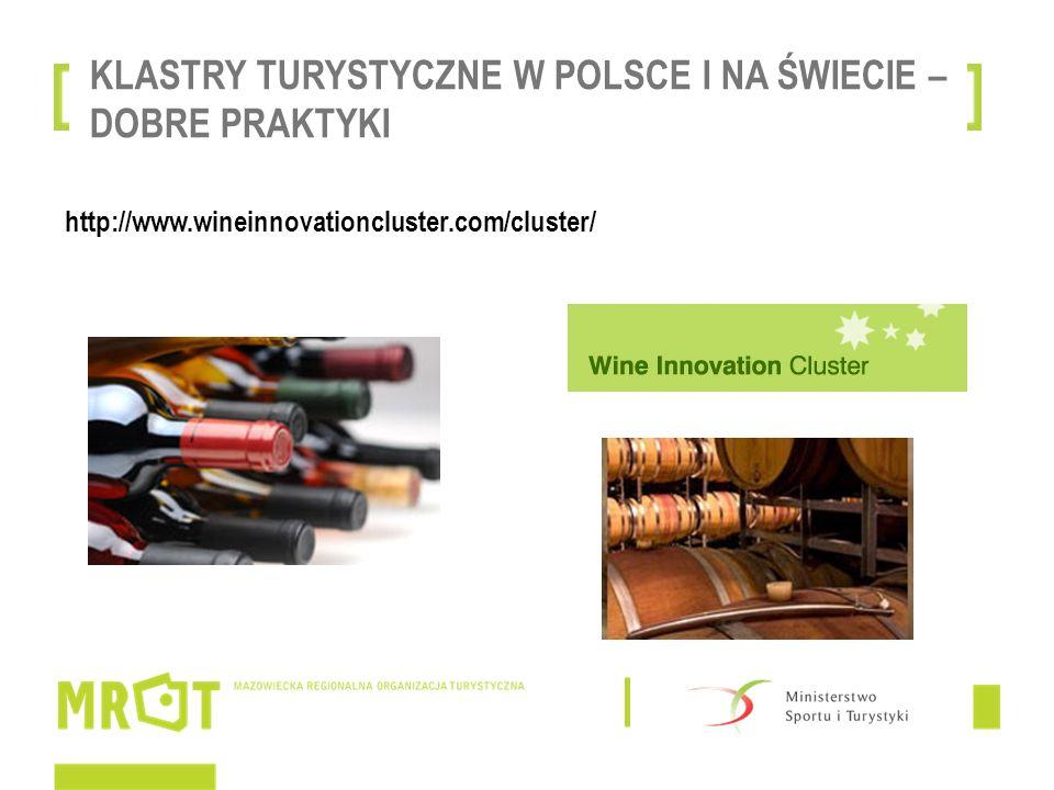 KLASTRY TURYSTYCZNE W POLSCE I NA ŚWIECIE – DOBRE PRAKTYKI http://www.wineinnovationcluster.com/cluster/