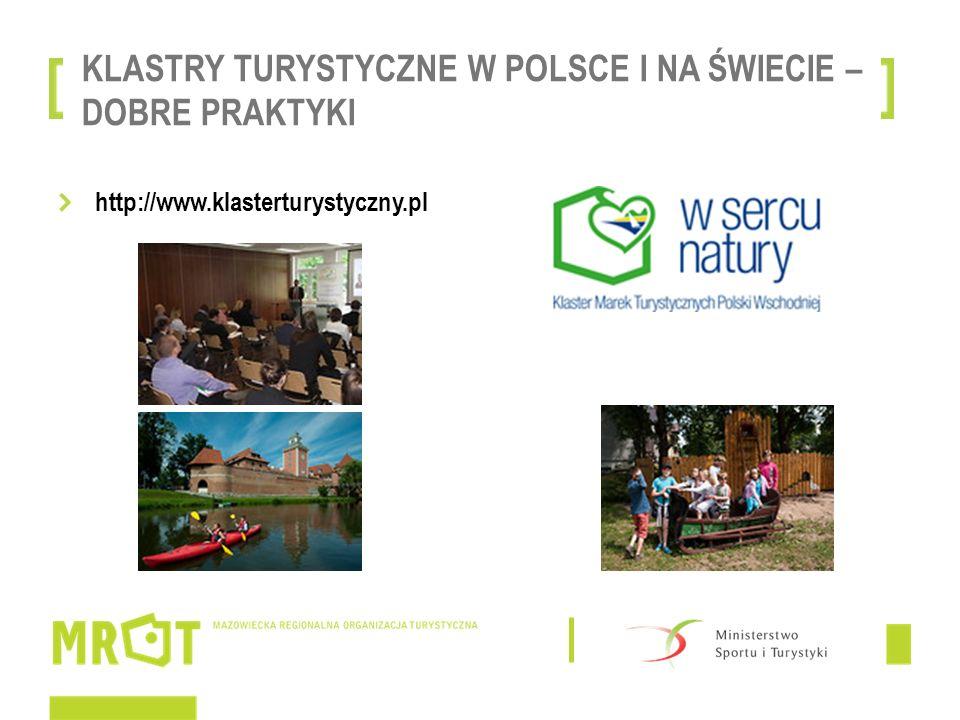 KLASTRY TURYSTYCZNE W POLSCE I NA ŚWIECIE – DOBRE PRAKTYKI http://www.klasterturystyczny.pl