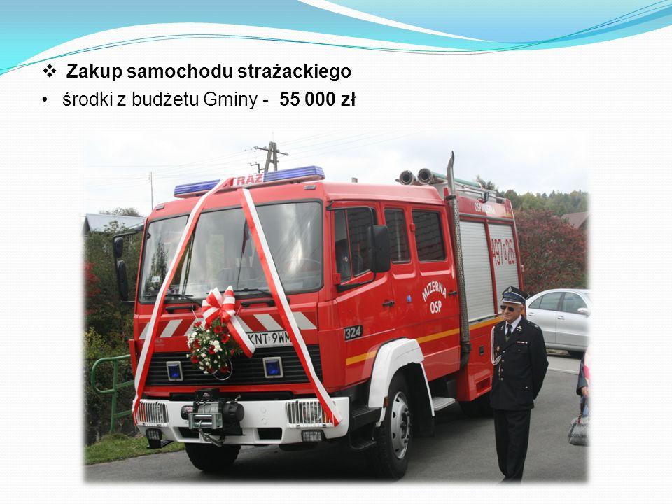  Zakup samochodu strażackiego środki z budżetu Gminy - 55 000 zł