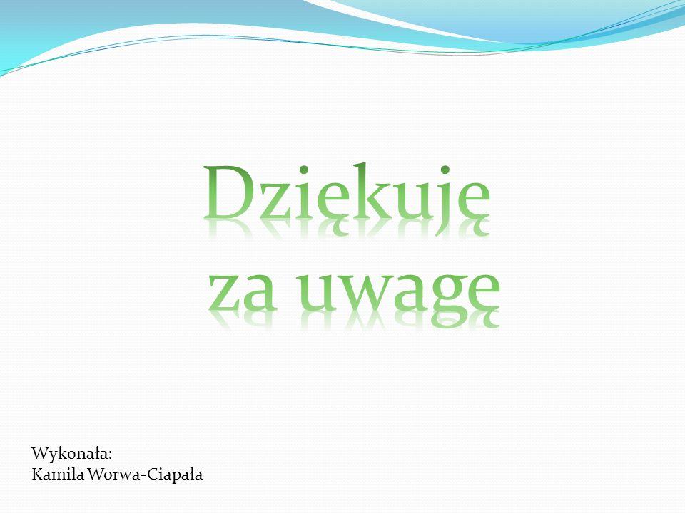 Wykonała: Kamila Worwa-Ciapała