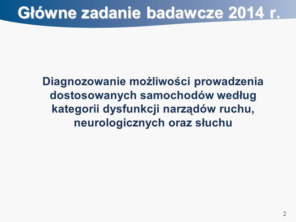 2 Główne zadanie badawcze 2014 r.