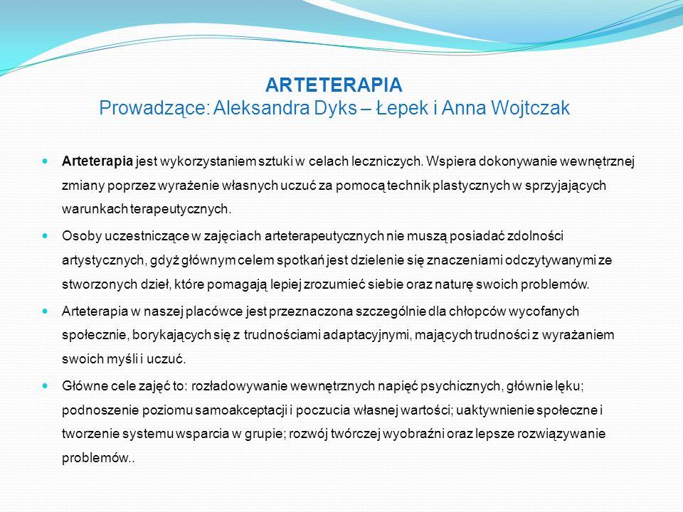 Arteterapia jest wykorzystaniem sztuki w celach leczniczych. Wspiera dokonywanie wewnętrznej zmiany poprzez wyrażenie własnych uczuć za pomocą technik