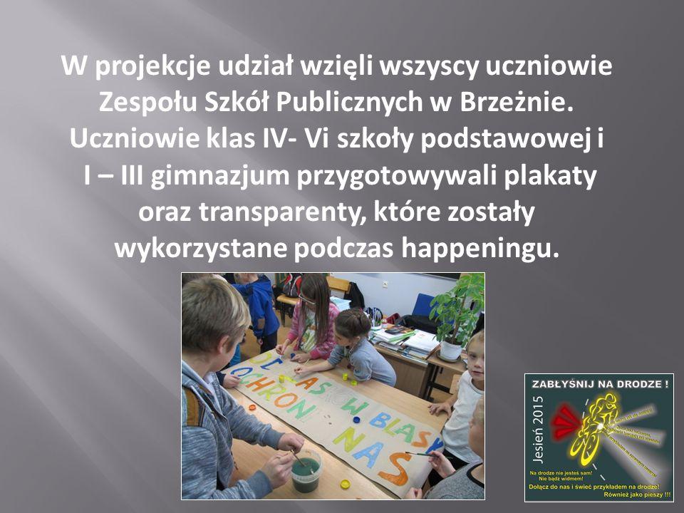 W projekcje udział wzięli wszyscy uczniowie Zespołu Szkół Publicznych w Brzeżnie. Uczniowie klas IV- Vi szkoły podstawowej i I – III gimnazjum przygot