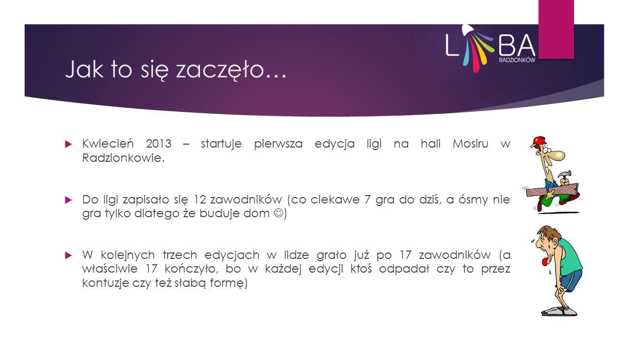 Jak to się zaczęło…  Kwiecień 2013 – startuje pierwsza edycja ligi na hali Mosiru w Radzionkowie.