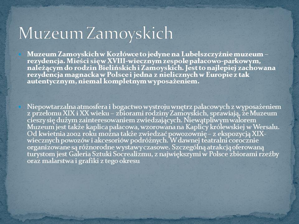 Muzeum Zamoyskich w Kozłówce to jedyne na Lubelszczyźnie muzeum – rezydencja.