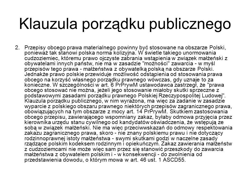 Klauzula porządku publicznego 2.