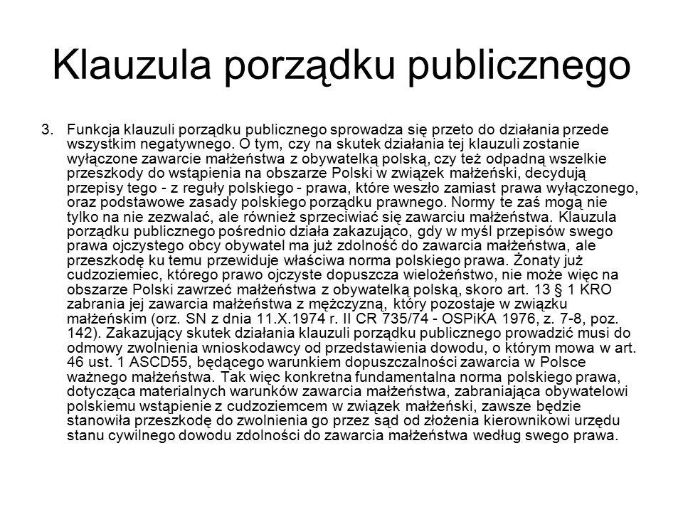 Klauzula porządku publicznego 3.