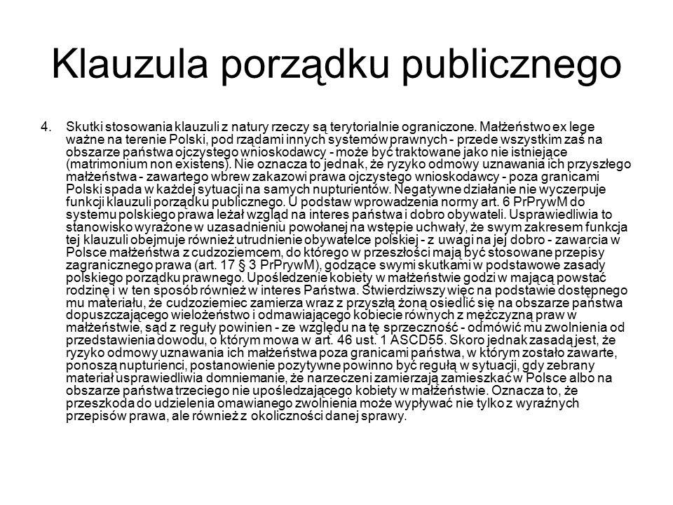 Klauzula porządku publicznego 4.