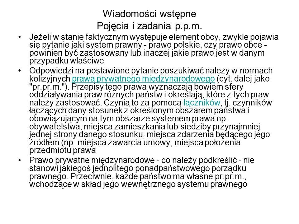 Wiadomości wstępne Pojęcia i zadania p.p.m.