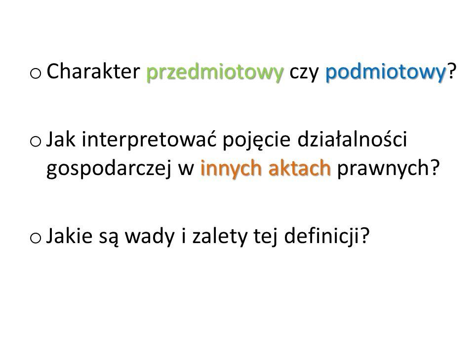 Wyznaczniki działalności gospodarczej.
