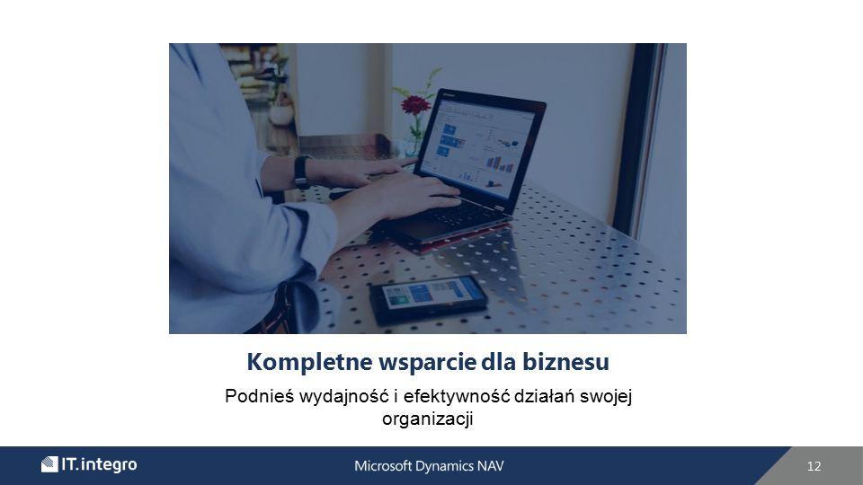 Kompletne wsparcie dla biznesu Podnieś wydajność i efektywność działań swojej organizacji 12