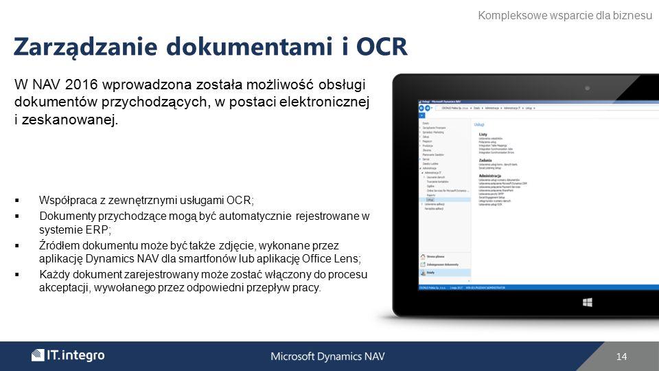 W NAV 2016 wprowadzona została możliwość obsługi dokumentów przychodzących, w postaci elektronicznej i zeskanowanej.