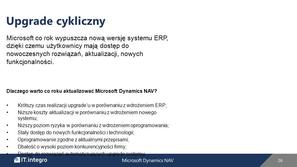 Microsoft co rok wypuszcza nową wersję systemu ERP, dzięki czemu użytkownicy mają dostęp do nowoczesnych rozwiązań, aktualizacji, nowych funkcjonalności.