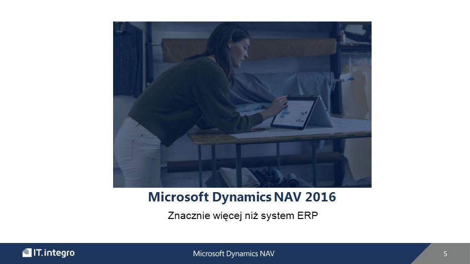 Microsoft Dynamics NAV 2016 Znacznie więcej niż system ERP 5