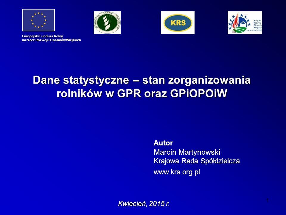 1 Autor Marcin Martynowski Krajowa Rada Spółdzielcza www.krs.org.pl Kwiecień, 2015 r.