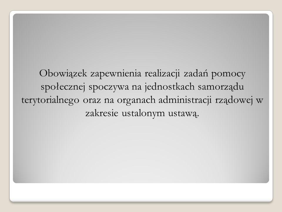 Rodzaje świadczeń z pomocy społecznej Świadczenia pieniężne, np.