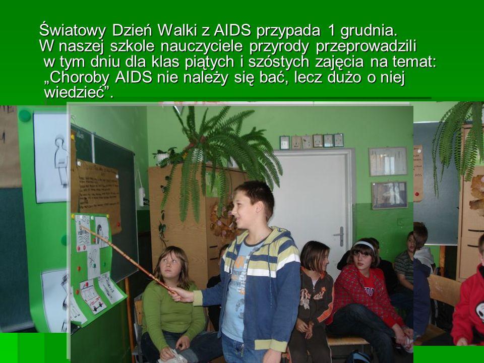 Światowy Dzień Walki z AIDS przypada 1 grudnia. Światowy Dzień Walki z AIDS przypada 1 grudnia.
