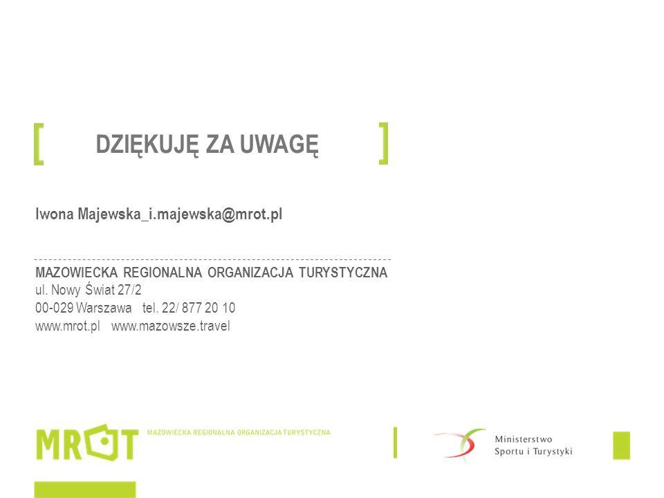 Iwona Majewska_i.majewska@mrot.pl MAZOWIECKA REGIONALNA ORGANIZACJA TURYSTYCZNA ul.