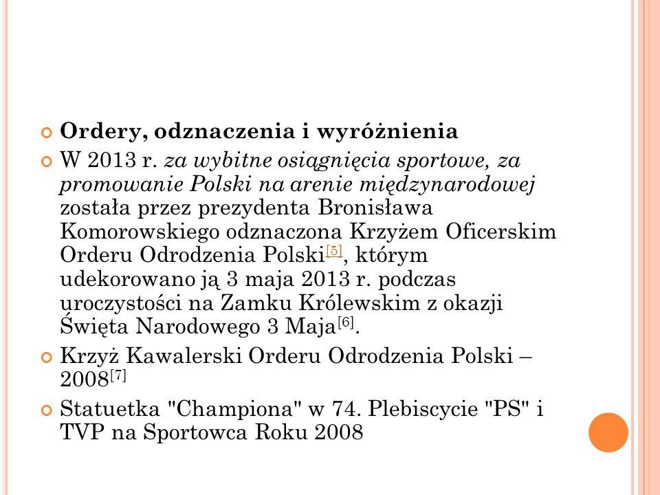 Ordery, odznaczenia i wyróżnienia W 2013 r.