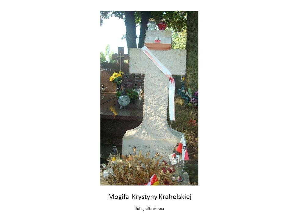 Mogiła Krystyny Krahelskiej fotografia własna