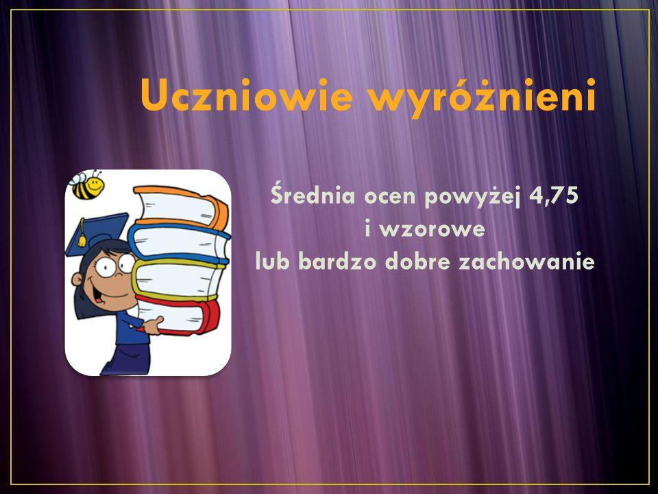  Hubert Marczuk - 5,57;  Aleksandra Szczepańska - 5,42;  Patrycja Kozorys - 4,92 Klasa I b  Julia Krzywicka- 5,64  Bartosz Podgórniak- 5,21  Kacper Jaszczuk- 5,0 Średnia klasy: 3,18 frekwencja: 85,25 % Średnia klasy: 3,3 frekwencja: 91,1 %