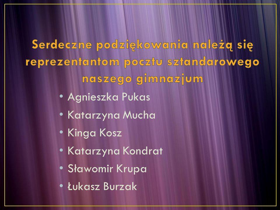 Agnieszka Pukas Katarzyna Mucha Kinga Kosz Katarzyna Kondrat Sławomir Krupa Łukasz Burzak