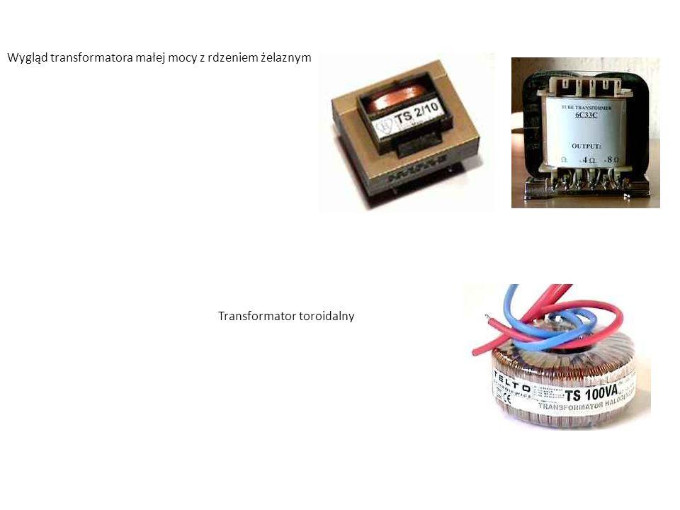 Wygląd transformatora małej mocy z rdzeniem żelaznym Transformator toroidalny