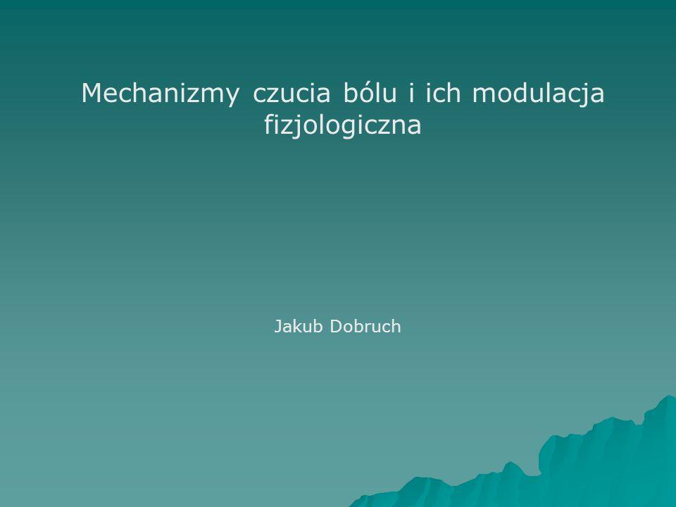 Mechanizmy czucia bólu i ich modulacja fizjologiczna Jakub Dobruch