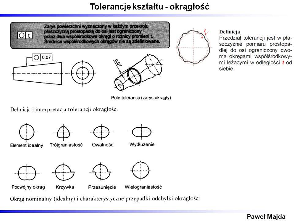 Tolerancje kształtu - okrągłość Paweł Majda