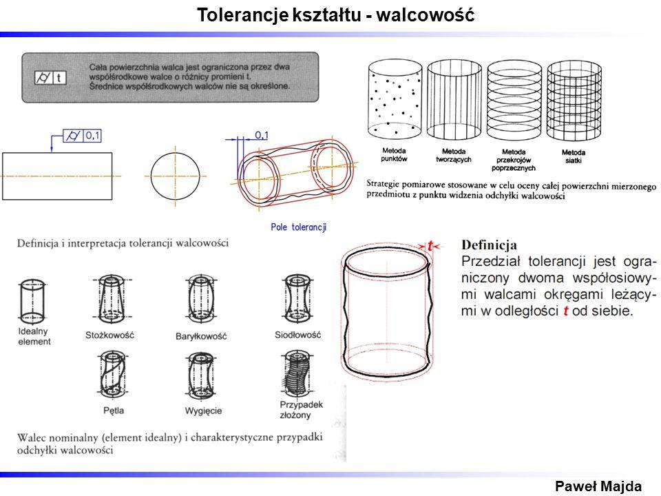 Tolerancje kształtu - walcowość Paweł Majda
