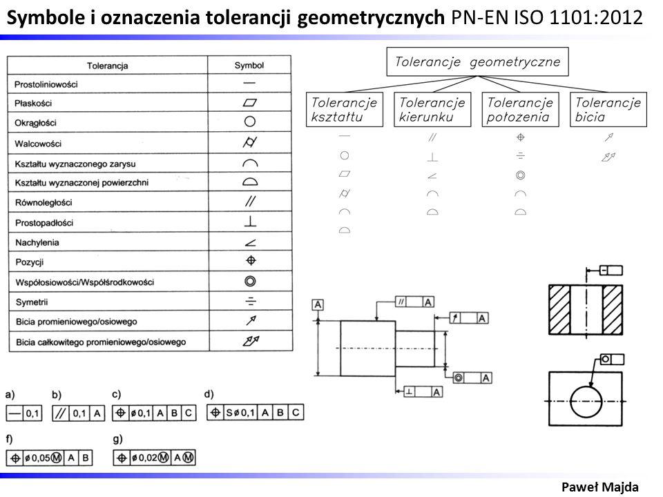 Symbole i oznaczenia tolerancji geometrycznych PN-EN ISO 1101:2012 Paweł Majda