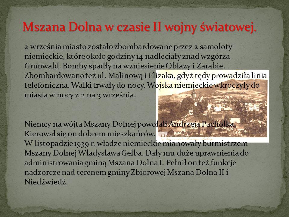 """Władysław Gelb nazywany """"katem Mszany Dolnej ; sadystyczny burmistrz miasta z czasów II wojny światowej."""