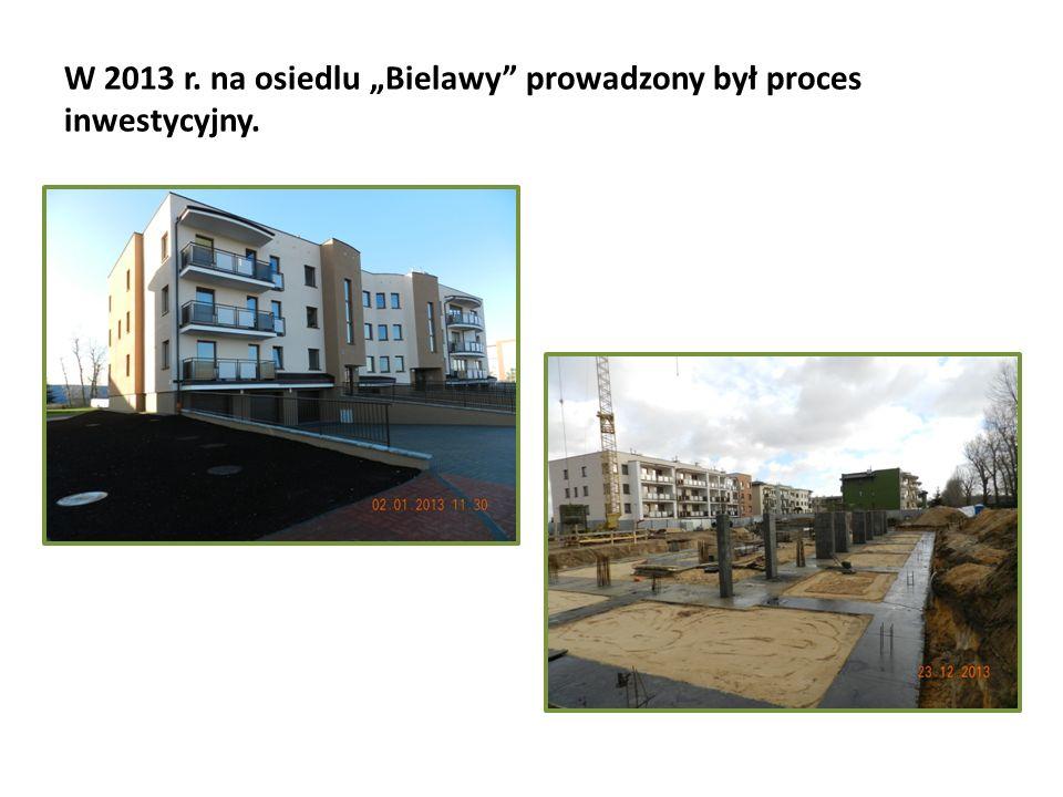 """W 2013 r. na osiedlu """"Bielawy"""" prowadzony był proces inwestycyjny."""