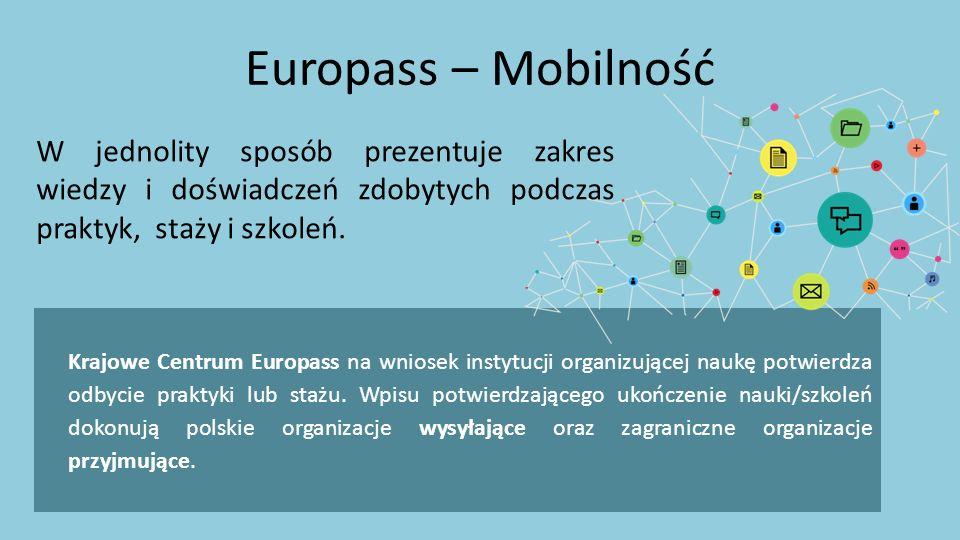 Krajowe Centrum Europass na wniosek instytucji organizującej naukę potwierdza odbycie praktyki lub stażu. Wpisu potwierdzającego ukończenie nauki/szko
